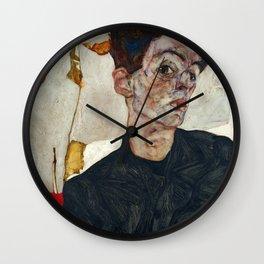 "Egon Schiele ""Self-Portrait with Physalis"" Wall Clock"