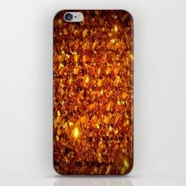 Copper Sparkle iPhone Skin