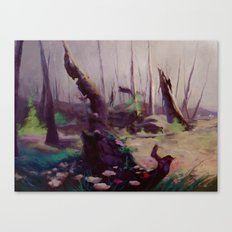 Rebirth | painted Bambi landscape Canvas Print