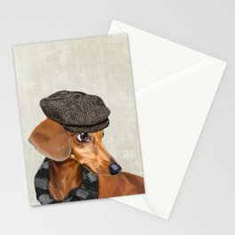 Elegant Mr. Dachshund Stationery Cards