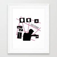 stiles stilinski Framed Art Prints featuring Stiles Stilinski by smartypants