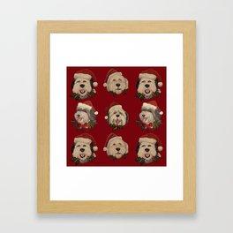 Santa Pups Framed Art Print