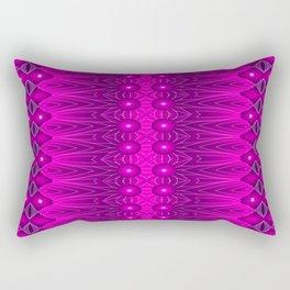 Magenta Vibrations Rectangular Pillow