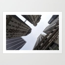 Looking towards Sky - NYC Art Print