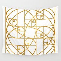 fibonacci Wall Tapestries featuring Golden Ropes by Melek Design