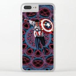 Captain of America Sam Wilson Clear iPhone Case