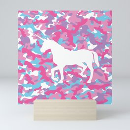 Unicorn's Breakfast [Camo Pattern] Mini Art Print