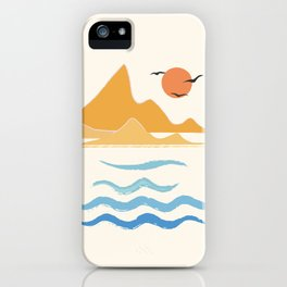 Minimalistic Summer III iPhone Case