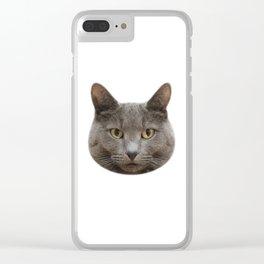 Mango, the cat Clear iPhone Case