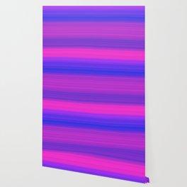 Pink & Blue Gradient Stripes Wallpaper