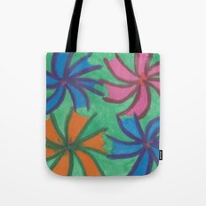 Abstract Tropical Flowers Tote Bag