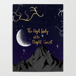 The High Lady of the Night Court (ACOMAF) Poster