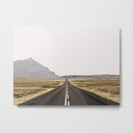 Lost Highway - Iceland Landscape, Travel Photography Metal Print