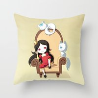 princess Throw Pillows featuring Princess by Freeminds