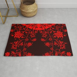 floral ornaments pattern ch Rug