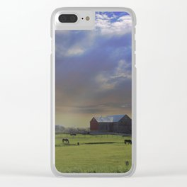 Down a Country Road Clear iPhone Case