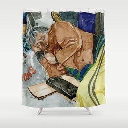 Homeless Series 3 ~ Sunset Blvd., Los Angeles, CA. Shower Curtain