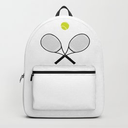 Tennis Racket And Ball 2 Backpack