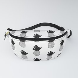 Black Pineapple Pattern 2 Fanny Pack