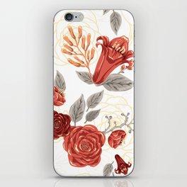 Vintage Coral Floral Bouquet iPhone Skin