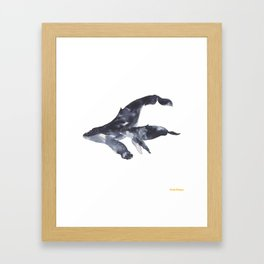 Humpback Whales Framed Art Print
