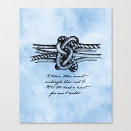 William Shakespeare - Twelfth Night - Knot Canvas Print