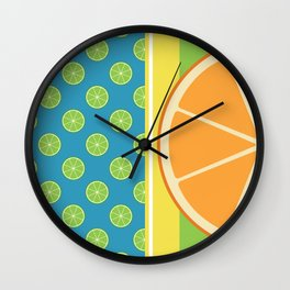 Summer Citrus Party Wall Clock