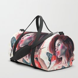 Kissing winter Duffle Bag