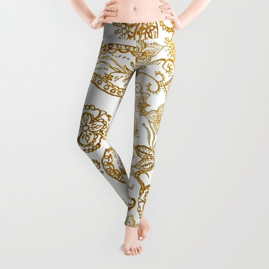 India henna pattern   Leggings