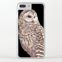 Barred Owl Clear iPhone Case