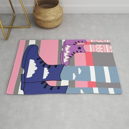 Colorful walk Rug