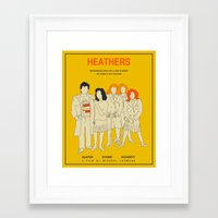 heathers Framed Art Prints featuring HEATHERS by Jazzberry Blue