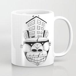 Homo Erectus in Modern World Coffee Mug