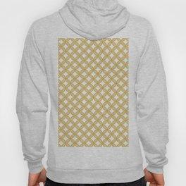 Modern gold yellow white geometric quatrefoil pattern Hoody