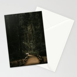 Trail Through Redwood Forest Stationery Cards