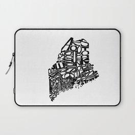 Typographic Maine Laptop Sleeve