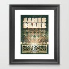 James Blake poster  Framed Art Print