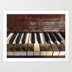 Dying Keys Art Print