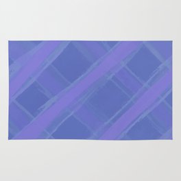 Purple Plaid Rug