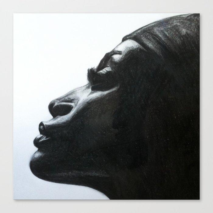 Black Woman Canvas Print