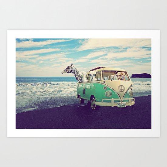 NEVER STOP EXPLORING THE BEACH Art Print