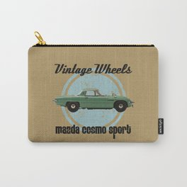 Vintage Wheels: Mazda Cosmo Sport (black) Carry-All Pouch