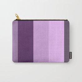 Purple Lavender Stripe Carry-All Pouch