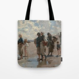 Fishing for Oysters at Cancale - John Sargent Tote Bag