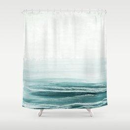hazy emerald sea Shower Curtain