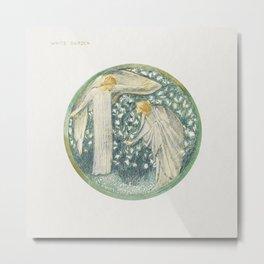 White Garden from The Flower Book (1905) by Sir Edward Burne–Jones Metal Print