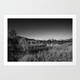 Snake River toward Mount Moran Art Print