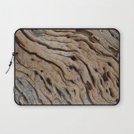 Close-up view rough texture of tree trunk Laptop Sleeve