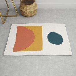 Abstract Mid Century Modern Minimal Shapes 07 Rug