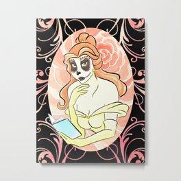 Dia de los Muertos Princesa Belleza Metal Print